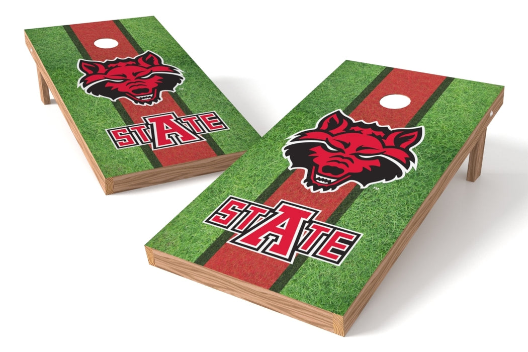 Arkansas State U 2x4 Cornhole Board Set - Field