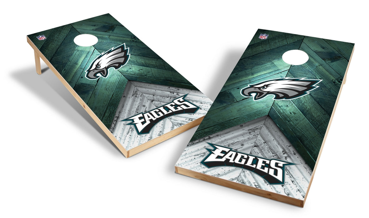 Philadelphia Eagles 2x4 Cornhole Board Set - Weathered