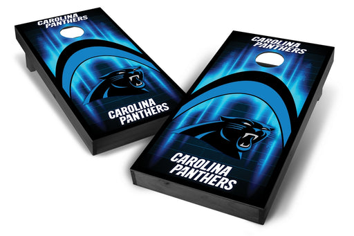Carolina Panthers 2x4 Cornhole Board Set Onyx Stained - Arch