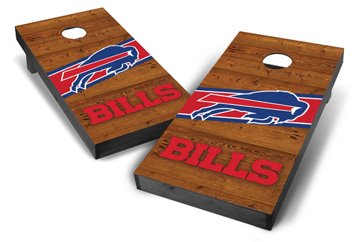 Buffalo Bills 2x4 Cornhole Board Set Onyx Stained - Logo