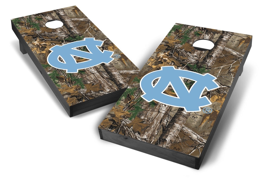 North Carolina Tar Heels 2x4 Cornhole Board Set Onyx Stained - Xtra Camo