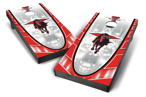 Texas Tech Red Raiders 2x4 Cornhole Board Set Onyx Stained - Hot