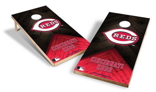 Cincinnati Reds 2x4 Cornhole Board Set - Weathered