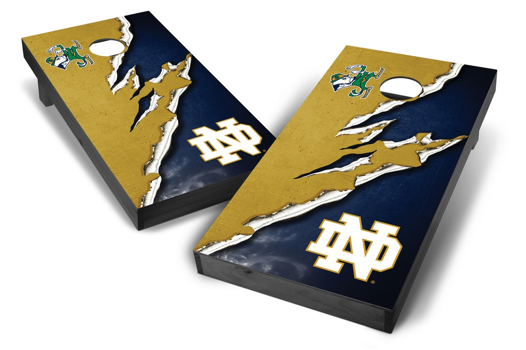 Notre Dame Fighting Irish 2x4 Cornhole Board Set Onyx Stained -  Ripped