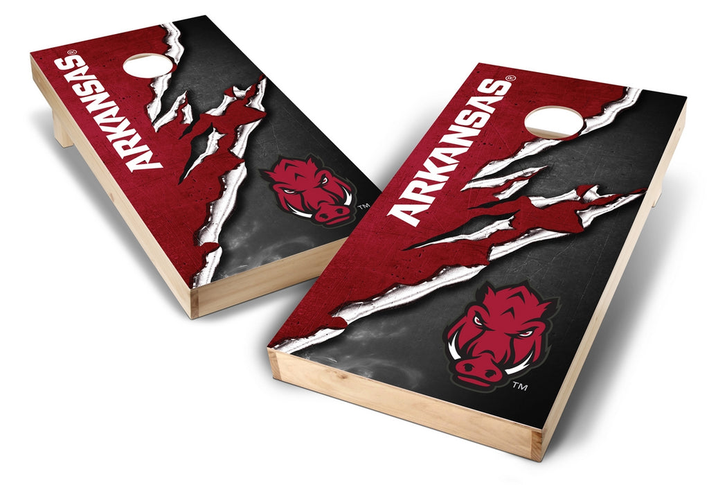 Arkansas Razorbacks 2x4 Cornhole Board Set - Ripped
