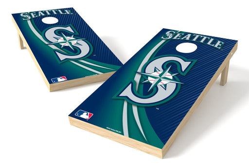 Seattle Mariners 2x4 Cornhole Board Set - Logo