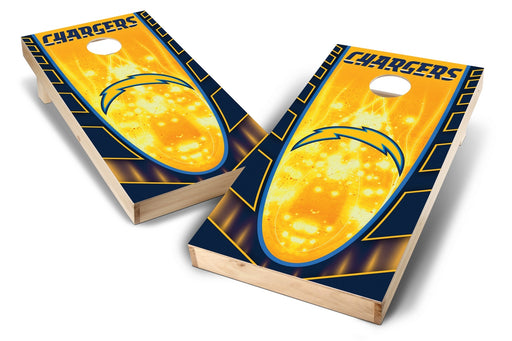 Los Angeles Chargers 2x4 Cornhole Board Set - Hot