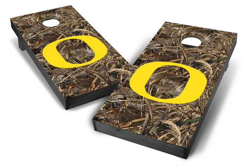 Oregon Ducks 2x4 Cornhole Board Set Onyx Stained - Realtree Max-5 Camo