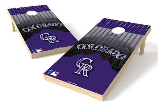 Colorado Rockies 2x4 Cornhole Board Set - Logo