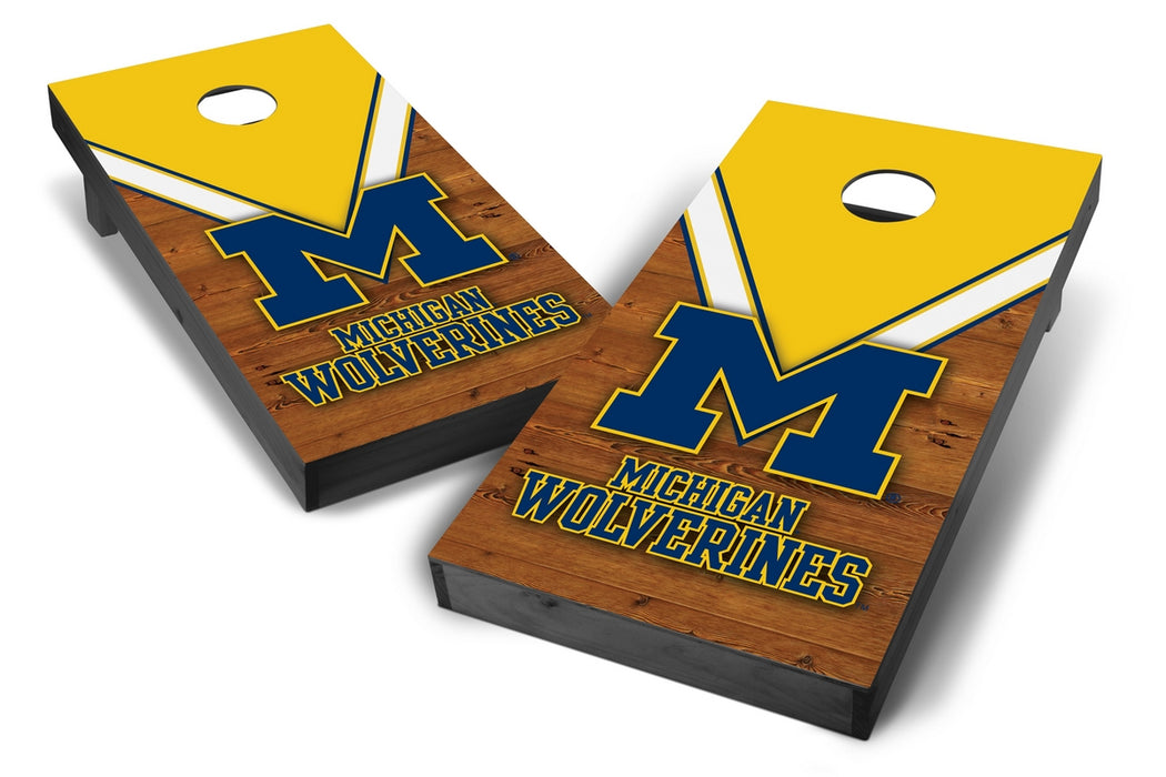 Michigan Wolverines 2x4 Cornhole Board Set Onyx Stained - Uniform