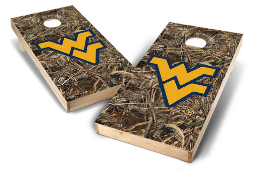 WVU Mountaineers 2x4 Cornhole Board Set - Realtree Max-5 Camo