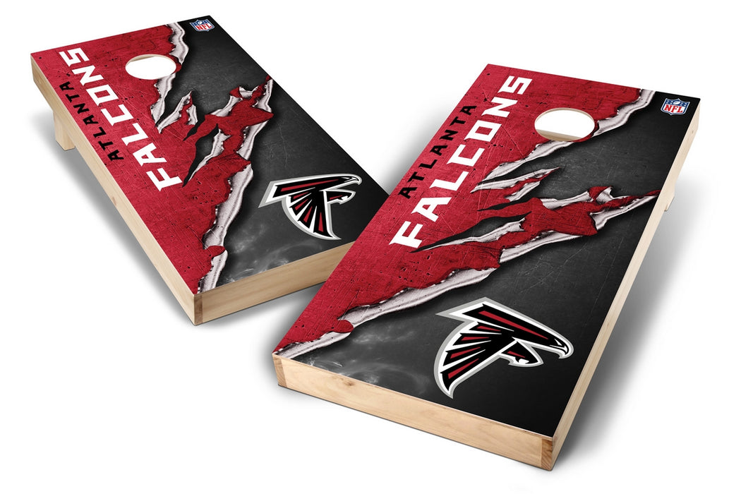 Atlanta Falcons 2x4 Cornhole Board Set - Ripped