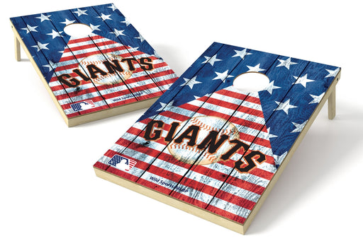 San Francisco Giants 2x3 Cornhole Board Set - American Flag