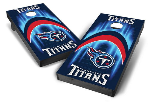 Tennessee Titans 2x4 Cornhole Board Set Onyx Stained - Arch