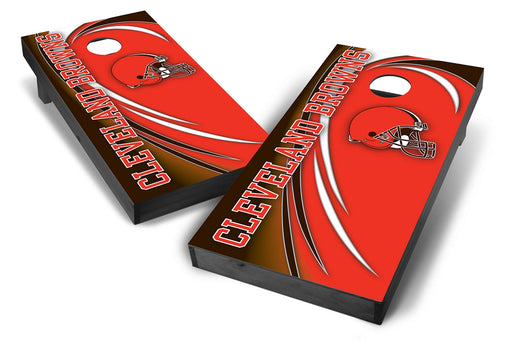 Cleveland Browns 2x4 Cornhole Board Set Onyx Stained - Spiral