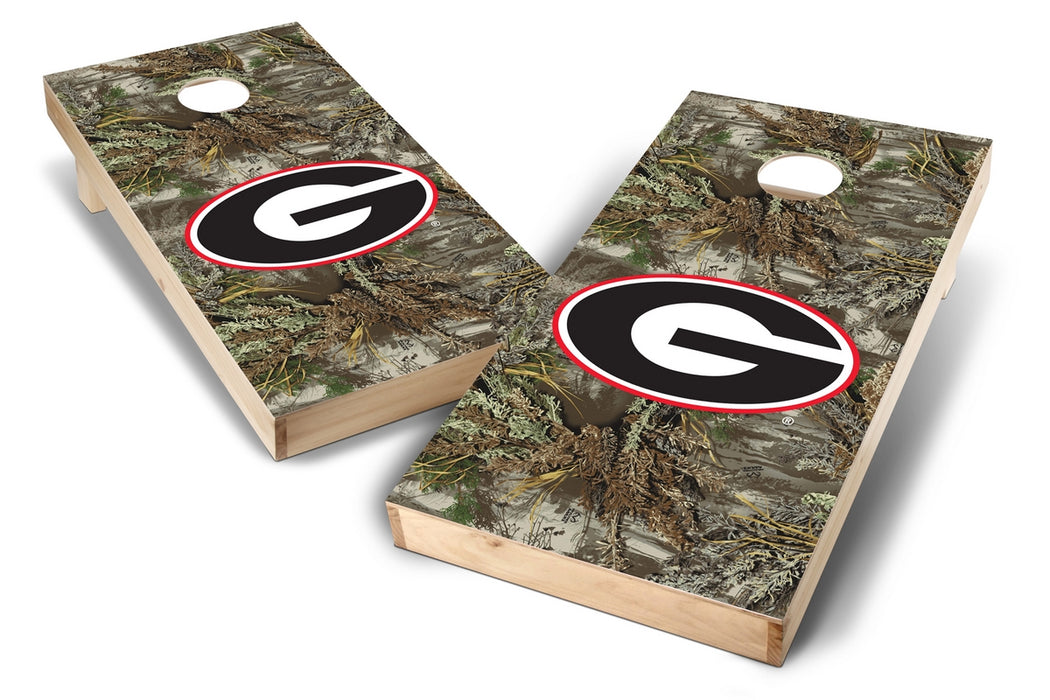 Georgia Bulldogs 2x4 Cornhole Board Set - Realtree Max-1 Camo