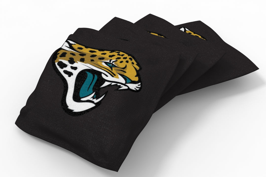 Jacksonville Jaguars 2x4 Cornhole Board Set Onyx Stained - Hot