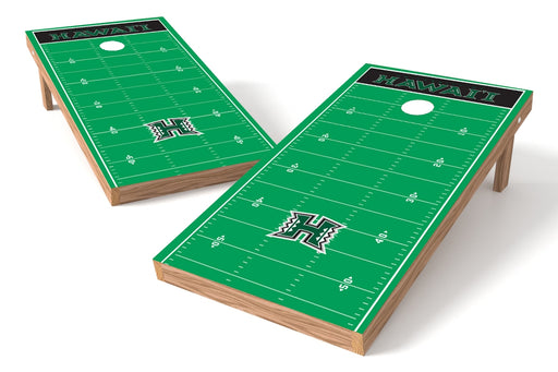 Hawaii Warriors 2x4 Cornhole Board Set - Field