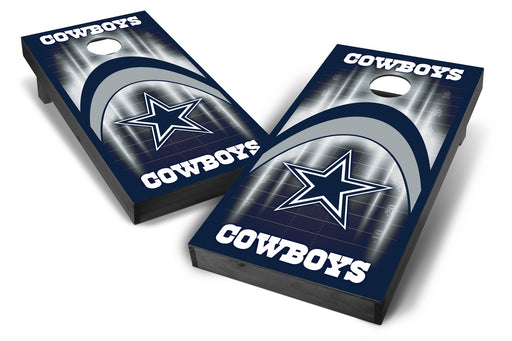 Dallas Cowboys 2x4 Cornhole Board Set Onyx Stained - Arch