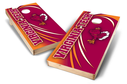 Virginia Tech Hokies 2x4 Cornhole Board Set - Spiral