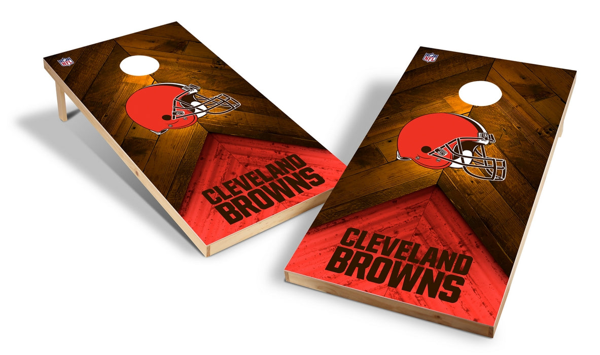 Cleveland Browns 2x4 Cornhole Board Set - Weathered