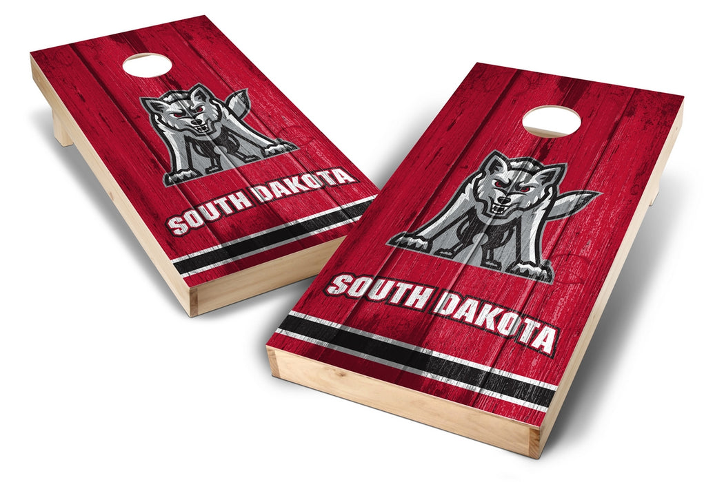 South Dakota Coyotes 2x4 Cornhole Board Set - Vintage