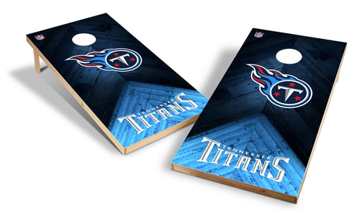 Tennessee Titans 2x4 Cornhole Board Set - Weathered