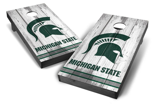 Michigan State Spartans 2x4 Cornhole Board Set Onyx Stained - Vintage