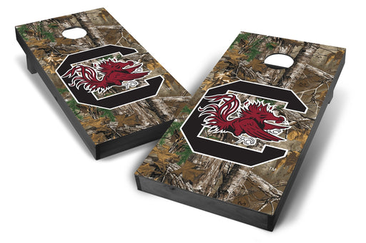 South Carolina Gamecocks 2x4 Cornhole Board Set Onyx Stained - Xtra Camo