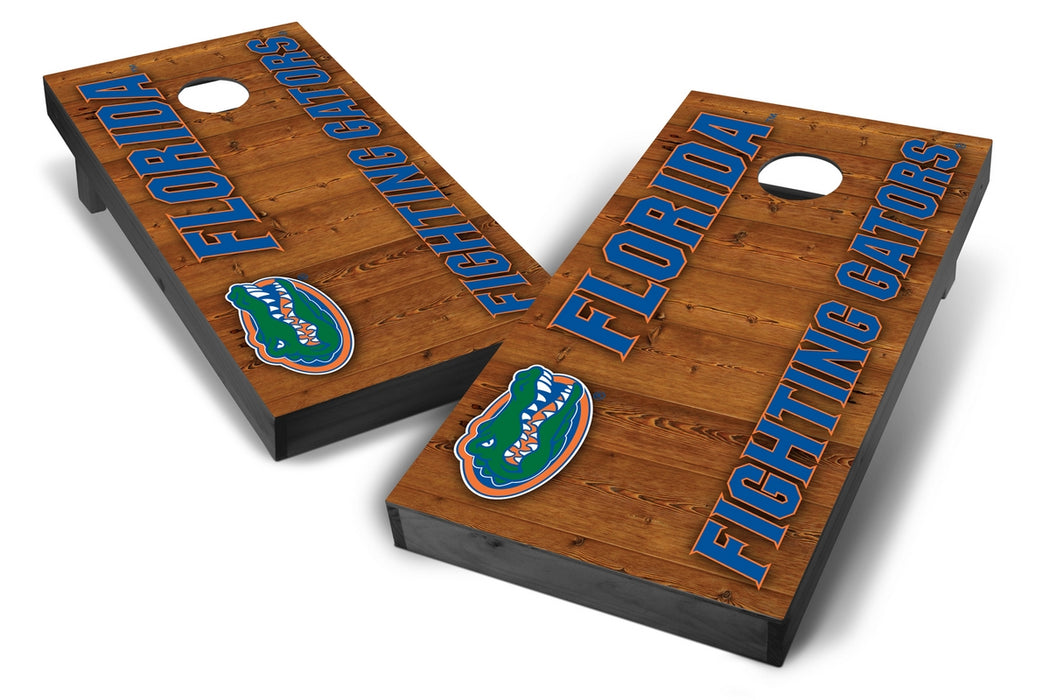 Florida Gators 2x4 Cornhole Board Set Onyx Stained - Vertical