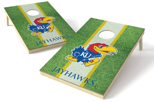 Kansas Jayhawks 2x3 Cornhole Board Set - Field