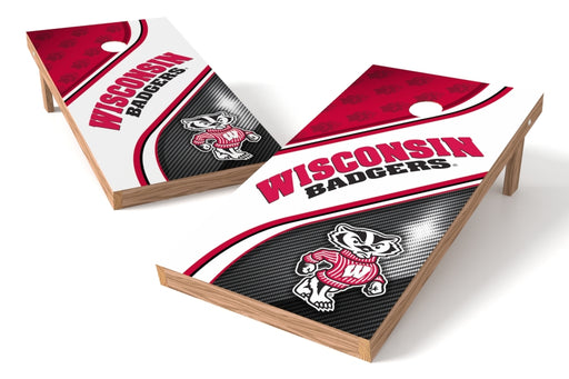 Wisconsin Badgers 2x4 Cornhole Board Set - Swirl