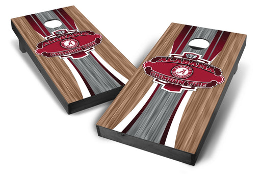 Alabama Crimson Tide 2x4 Cornhole Board Set Onyx Stained - Wood