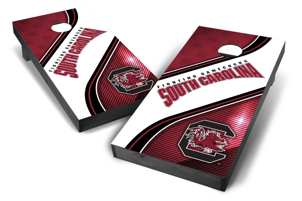South Carolina Gamecocks Swiril 2x4 Cornhole Board Set Onyx Stained - wiril