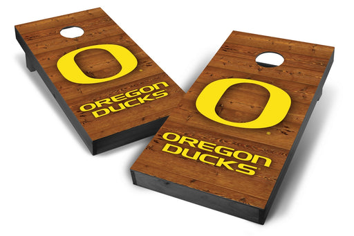 Oregon Ducks 2x4 Cornhole Board Set Onyx Stained - Logo