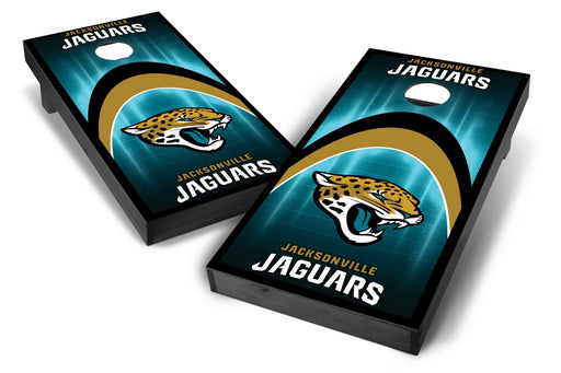 Jacksonville Jaguars 2x4 Cornhole Board Set Onyx Stained - Arch