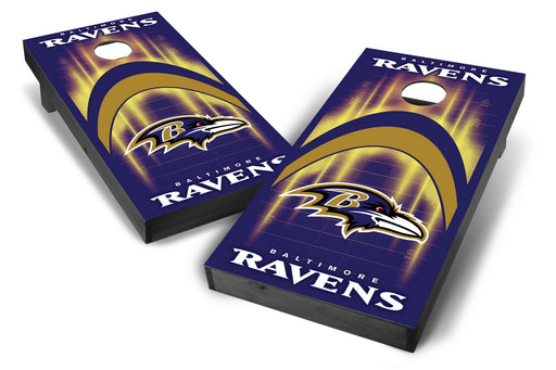 Baltimore Ravens 2x4 Cornhole Board Set Onyx Stained - Arch