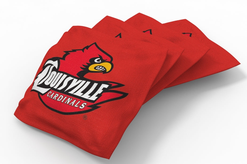 Louisville Cardinals 2x4 Cornhole Board Set Onyx Stained - Vintage