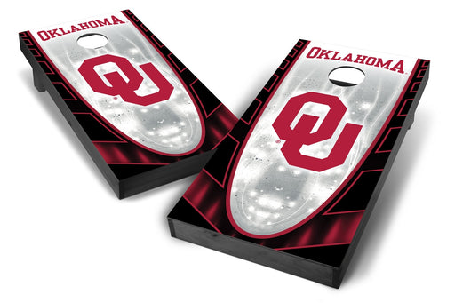 Oklahoma Sooners 2x4 Cornhole Board Set Onyx Stained - Hot
