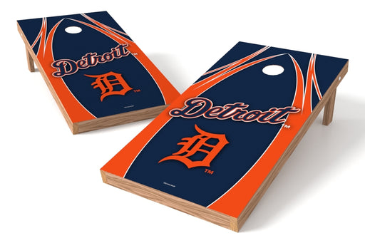 Detroit Tigers 2x4 Cornhole Board Set - Edge