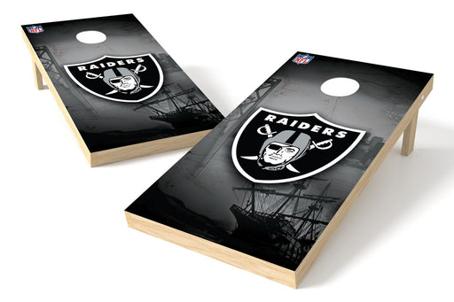Oakland Raiders 2x4 Cornhole Board Set - Logo
