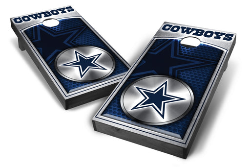Dallas Cowboys 2x4 Cornhole Board Set Onyx Stained - Medallion