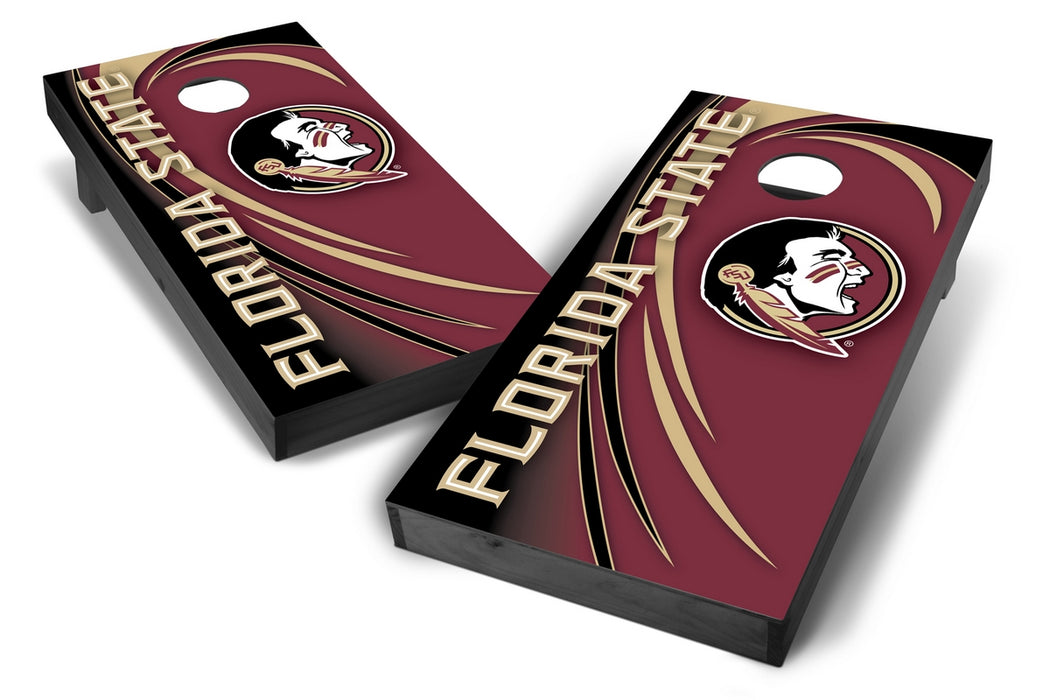 Florida State Seminoles 2x4 Cornhole Board Set Onyx Stained - Spiral