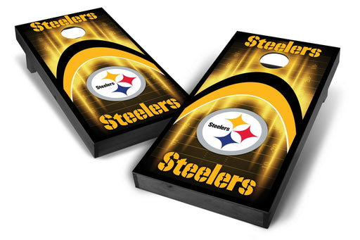 Pittsburgh Steelers 2x4 Cornhole Board Set Onyx Stained - Arch