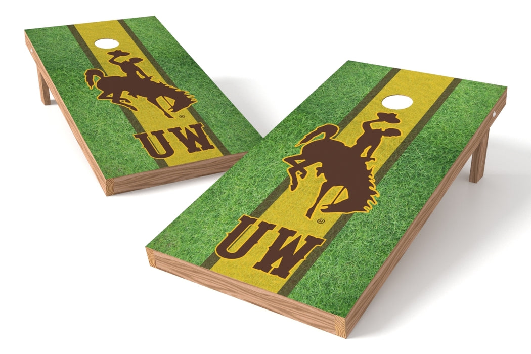 Wyoming 2x4 Cornhole Board Set - Field