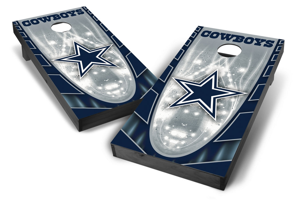 Dallas Cowboys 2x4 Cornhole Board Set Onyx Stained - Hot