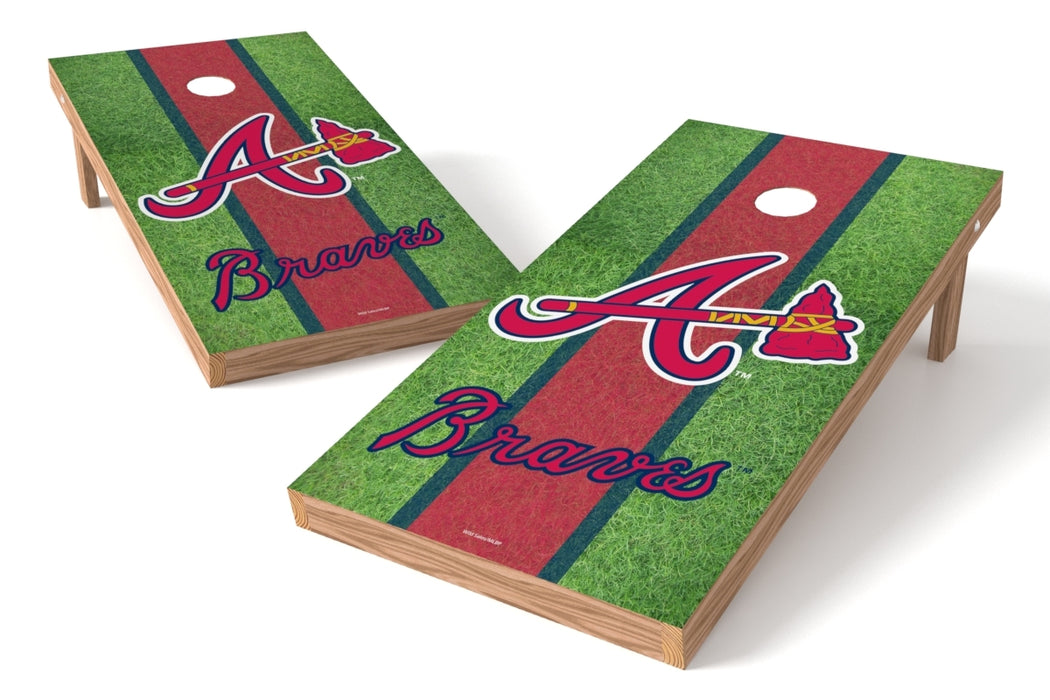Atlanta Braves 2x4 Cornhole Board Set - Field