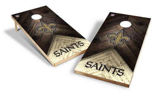 New Orleans Saints 2x4 Cornhole Board Set - Weathered