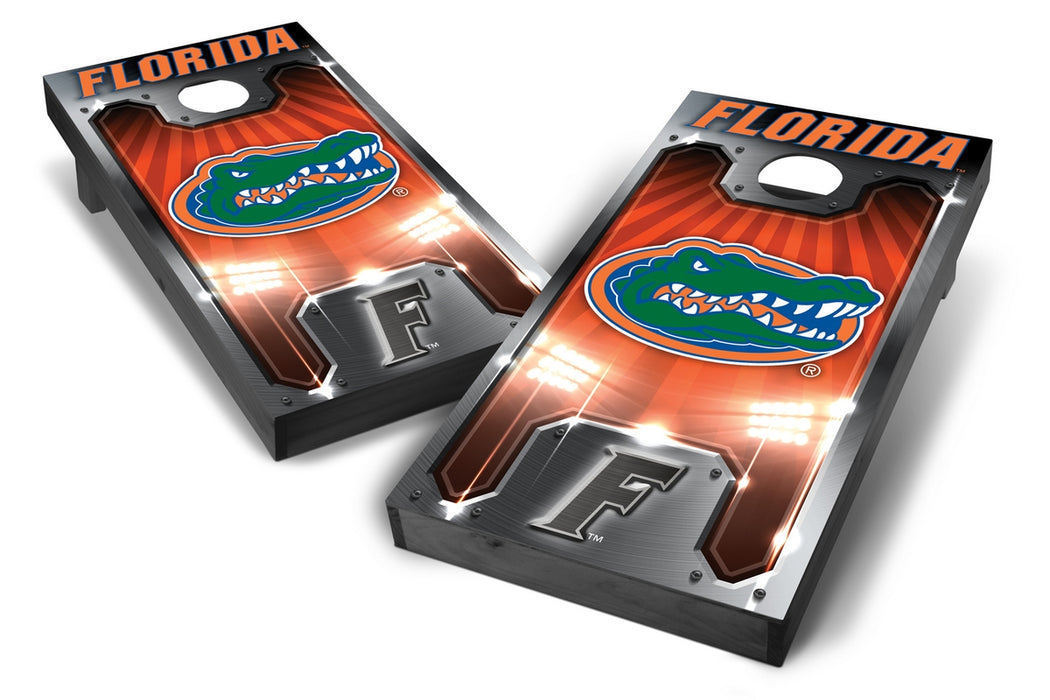 Florida Gators 2x4 Cornhole Board Set Onyx Stained - Plate