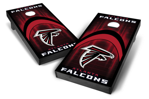 Atlanta Falcons 2x4 Cornhole Board Set Onyx Stained - Arch